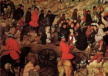 The Procession to Calvary [detail] by Pieter the Elder Bruegel